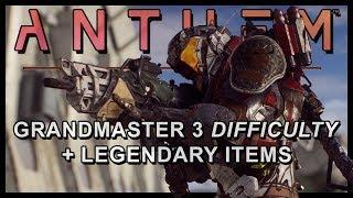 Anthem  New Info  Grandmaster 3 Storms Viability MTs Elemental Damage AI Legendaries