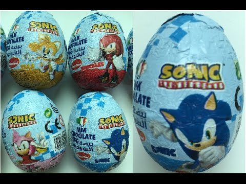 10 Sonic Surprise Eggs Different Colors Of Silicon Wrist Band Crayons And Sonic Coloring Sheets