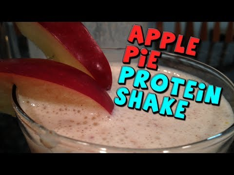 Apple Pie PROTEIN Shake Recipe (High Fiber)