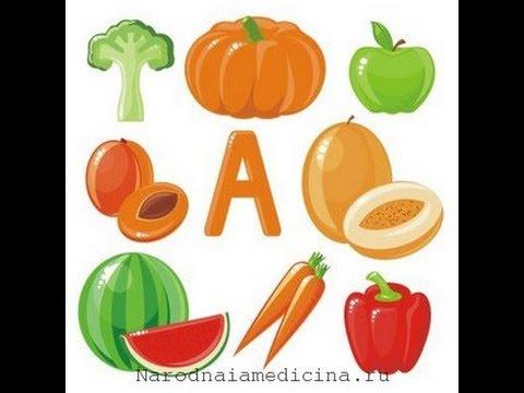Витамин А  Лечебные свойства витамина А  Продукты, содержащие витамин А