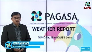 Public Weather Forecast Issued at 4:00 AM August 19, 2018