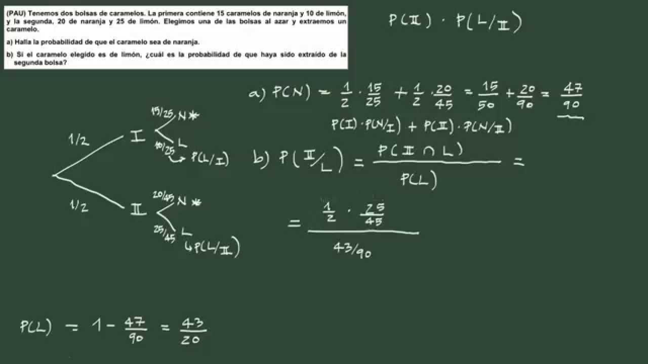 Ejercicio teorema de bayes youtube