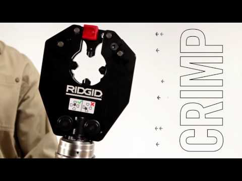 RIDGID RE 6 Electrician Tool - Cutting, Crimping, Knockout 3-N-1 with New Swiv-L-Punch