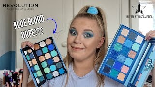 NEW REVOLUTION ICE PALETTE VS JEFFREE STAR BLUE BLOOD // IS IT A DUPE???