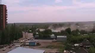Славянск Бомбеж города 24 05 2014 Aircraft bombed city