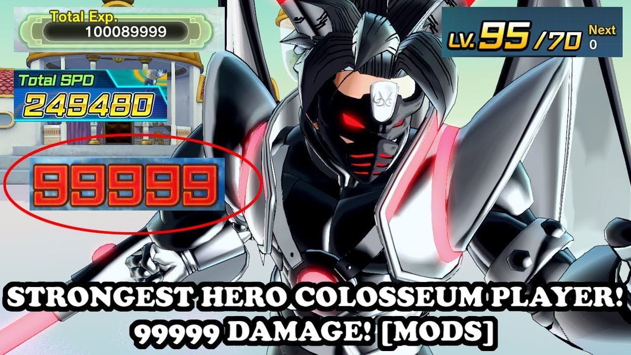 99999 DAMAGE + LVL 255 FIGURES! STRONGEST HERO COLOSSEUM PLAYER EVER!  Dragon Ball Xenoverse 2 Mods