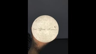 """15cm customize """"love you forever"""" on the moon lamp"""