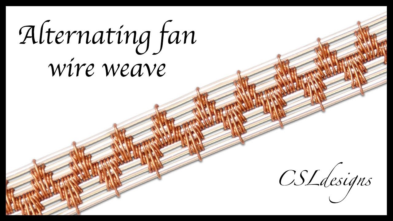 Alternating fan wire weave ⎮ Wire weaving series - YouTube