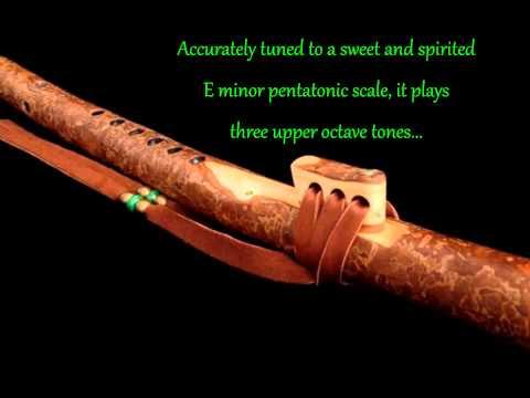 Dryad Flutes: Ponderosa Pine Branch Flute in High Em