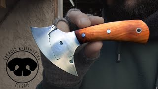 FORGE WELDING A ROUND KNIFE FOR CUTTING LEATHER