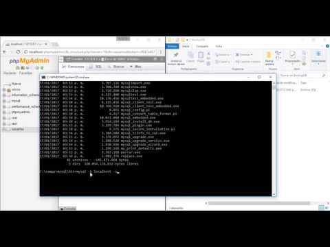 Como importar una base de datos en mysql desde cmd