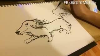 ●如何神速畫臘腸狗?單身右手最速傳說 /How to draw a dog? 【單身狗 Damn! Single Dogz】