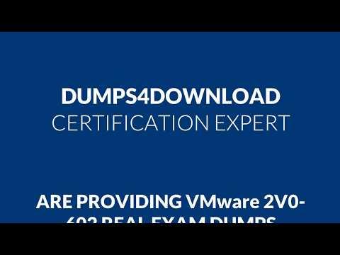 VMware 2V0-602 Exam Best Study Guide - VMware 2V0-602 Exam Dumps
