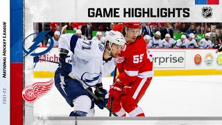 Lightning @ Red Wings 10/14/21 | NHL Highlights