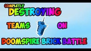 (read desc) DESTROYING TEAMS ON DOOMSPIRE! | Roblox Doomspire Brick Battle