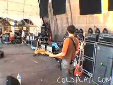 Coldplay  Gravity Soundcheck 24th June 2003