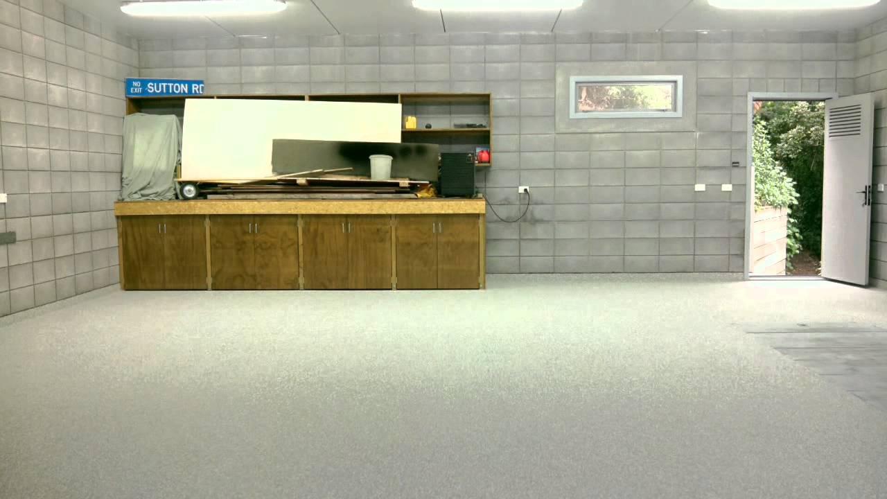 Decorative flake garage floor new zealand floor for Floor masters