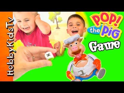 Pop the Pig! Game Night + Chocolate for Winner Toblerone Candy HobbyKidsTV