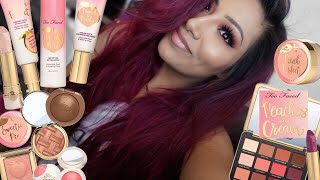 Toofaced Peaches And Cream Swatching The Whole Line, Tutorial + Review! - Alexisjayda