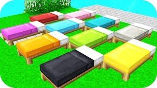 CRAZY RAINBOW BED CHALLENGE! (Minecraft BED WARS) w/ PrestonPlayz