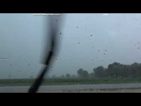 Live Storm Chase from NW Chicago area - July 23, 2016