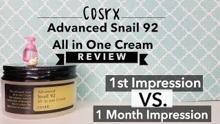 Cosrx Advanced Snail 92 All in One Cream Review