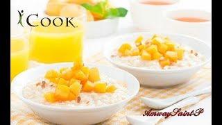 Овсяная каша с фруктовым соусом в посуде IСook от Amway.