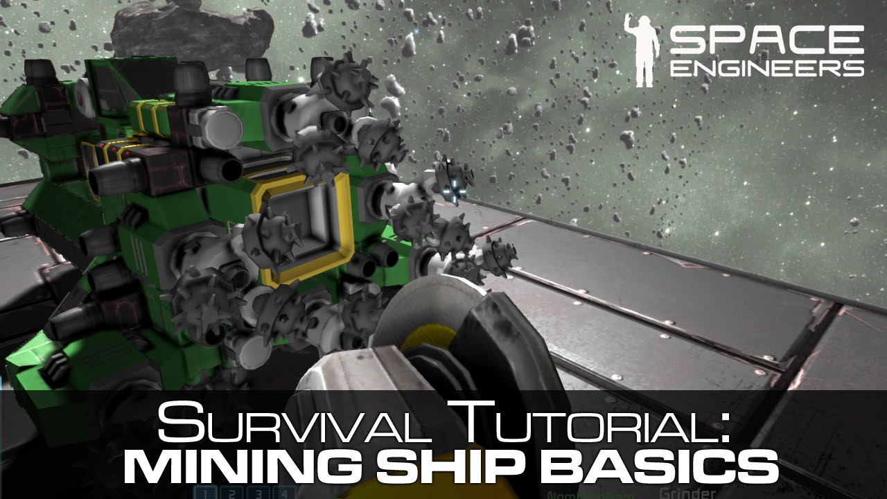Space Engineers A Basic Mining Ship Tutorial Guide Survival Mode Youtube