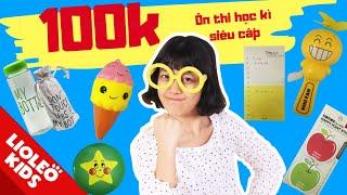 Thử thách 100k chị Lio mua bộ ôn thi học kì siêu cấp - Bé học tiếng Anh cùng Lioleo Kids