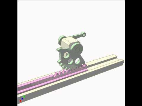 Rack Pinion Mechanism 4b Youtube
