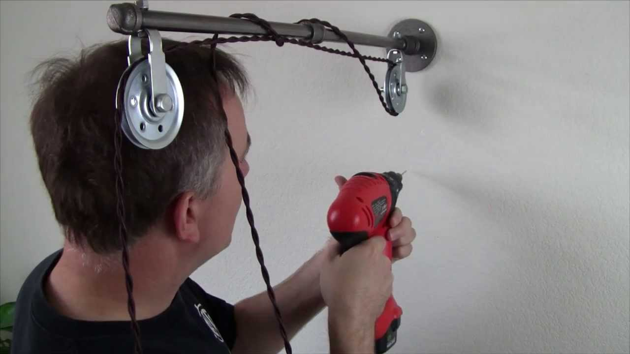 Krobar Clan Pulley Wall Lamp Installation - YouTube
