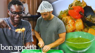 Andy Learns How to Cook Senegalese Food | Bon Appétit
