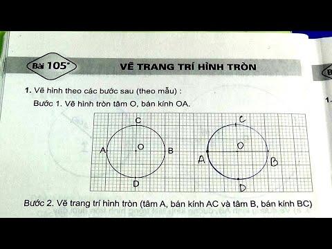 Vở Bài Tập Toán Lớp 3 Bài 105 Trang 24 Vẽ Trang Trí Hình Tròn #mshanh