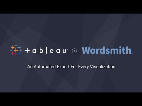 Tableau + Wordsmith