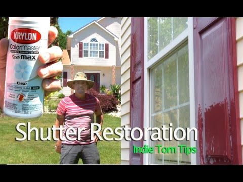 Shutter Restoration without removing shutters by Tommy Productions