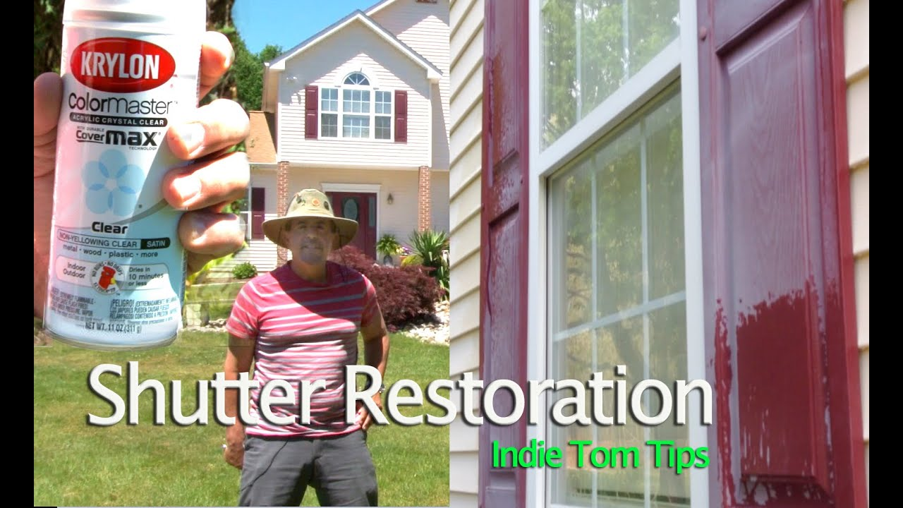 Shutter restoration without removing shutters by tommy for Paint vinyl shutters