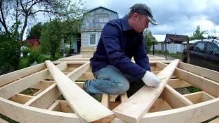 видео Стены каркасной бани