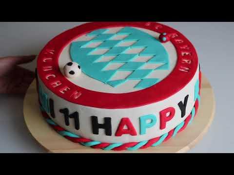 Doğum Günü Pastası Modeli FC Bayern München Futbol Takımı