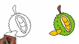 How to draw durian step by step Mr drawing