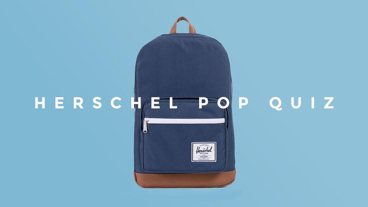 The Herschel Pop Quiz Backpack - YouTube 276ece818303e