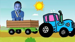 Синий трактор песенки для детей, часть 3. Синий трактор учим цвета