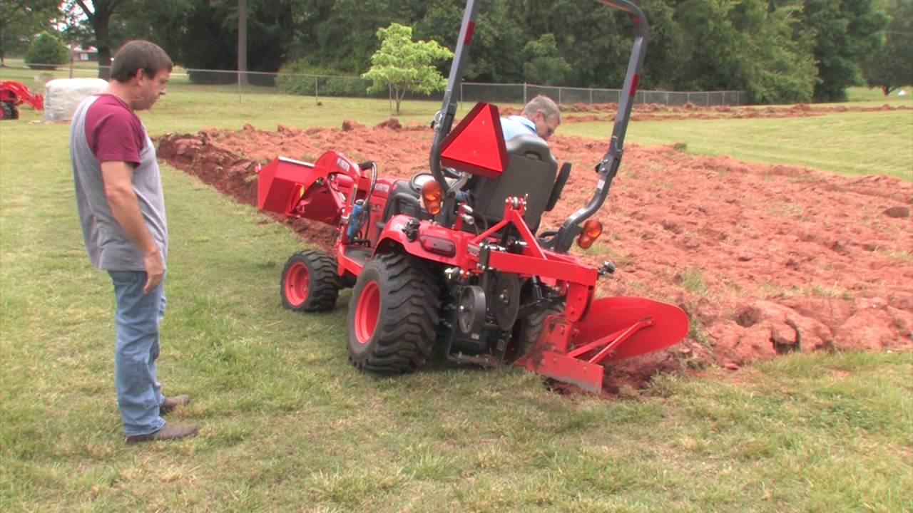 How To Plow With A Subcompact Kubota Bx Tractor Youtube