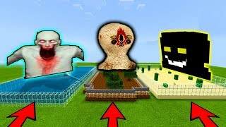 DO NOT CHOOSE THE WRONG FARM SCP 173 STATUE SCP 096 SHY GUY SCP 049 MINECRAFT FUZIONDROID DREWSMC