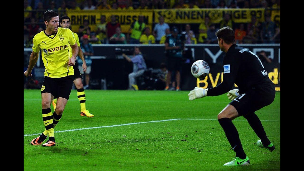 1:0 Robert Lewandowski: Borussia Dortmund - Werder Bremen 1:0 BVB Fans 23.08.2013 Lewandowski