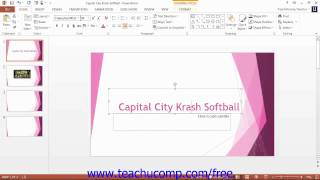PowerPoint 2013 Tutorial The Zoom Slider Microsoft Training Lesson 1.12