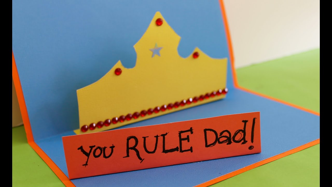 Father Day Card Ideas For Kids To Make Part - 32: Easy Fatheru0027s Day Card: How To Make A You Rule Fatheru0027s Day Card - YouTube
