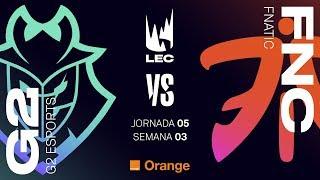G2 VS FNATIC | LEC | JORNADA 5 | Summer Split [2019] League of Legends