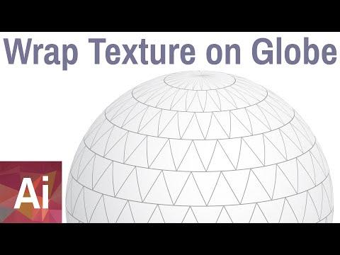 Wrap Texture Arround 3d Globe - Adobe Illustrator Tutorial thumbnail