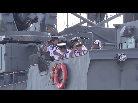 海上自衛隊 2代目女性艦長「せとゆき(瀬戸雪)」出港 TV-3518 'Setoyuki'