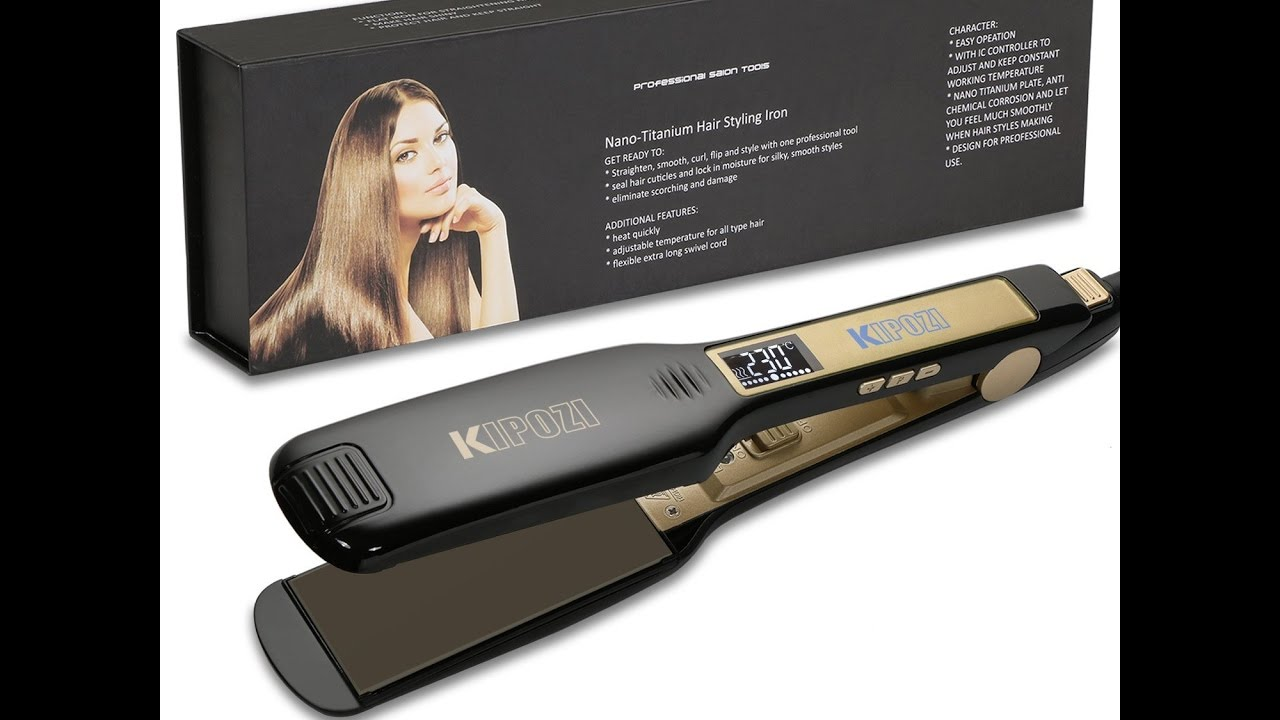 KIPOZI Professional Hair Straighteners YouTube